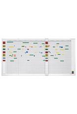 magnetoplan Wochenplaner, 5-Tage, 45 Mitarbeiter, 150 x 45 cm (BxH)