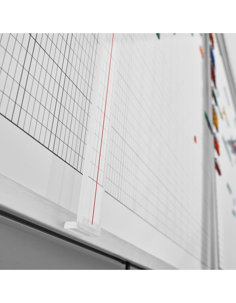 magnetoplan Wochenplaner, 7-Tage, 80 Mitarbeiter, 200 x 100 cm (BxH)