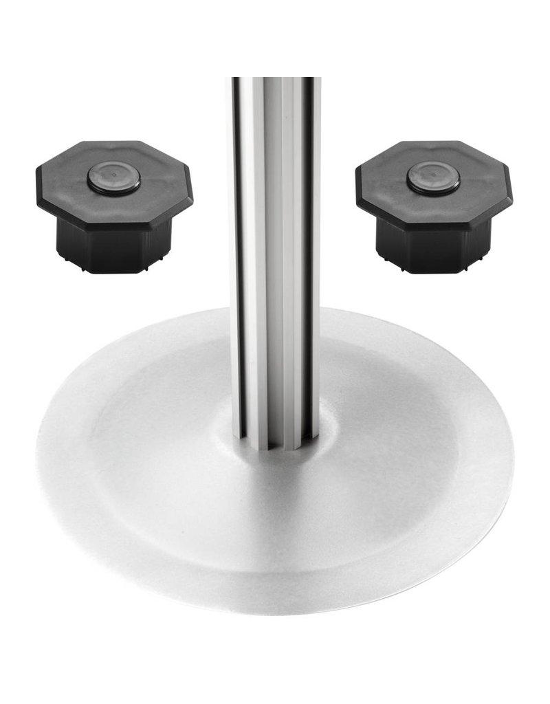magnetoplan Achtkantsäule inkl.  rundem Tellerfuß, Größe 2000 mm
