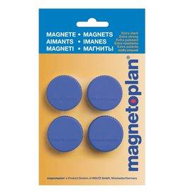 magnetoplan Magnet Discofix Magnum, auf Blisterkarte, Farbe dunkelblau