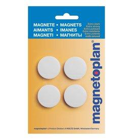 magnetoplan Magnet Discofix Standard auf Blisterkarte, Farbe weiss