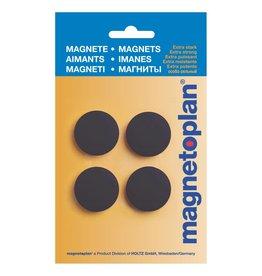 magnetoplan Magnet Discofix Standard auf Blisterkarte, Farbe schwarz