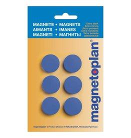 magnetoplan Magnet Discofix Hobby, auf Blisterkarte, Farbe dunkelblau