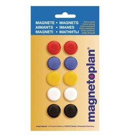 magnetoplan Rundmagnete 20 mm, Inhalt 10 Stück unterschiedlich farbig