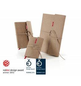 senseBook FLAP, mit Überschlag & Verschlussband, Größe Medium, Ausführung kariert