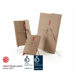 senseBook FLAP, mit Überschlag & Verschlussband, Größe Large, Ausführung blanko