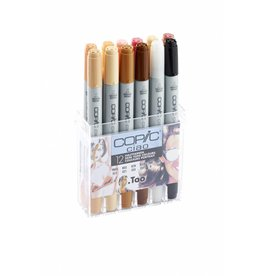 COPIC ciao 12er Marker-Set Hautfarben