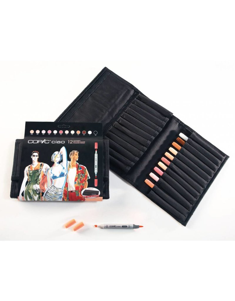 COPIC ciao 12er Marker-Set Hautfarben im Wallet