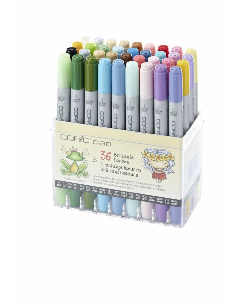 COPIC ciao 36er Marker-Set Brillante Farben