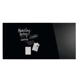 magnetoplan Design-Glasboards, tief-schwarz, Gr. 200 x 100 cm (BxH)