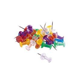 magnetoplan Pinnnadeln transparent 50 Stk. farbig sortiert in Blister