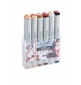 COPIC sketch 12er Set Hautfarben