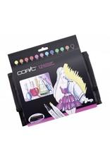 COPIC 12er Marker-Set Leuchtende Farben im Wallet