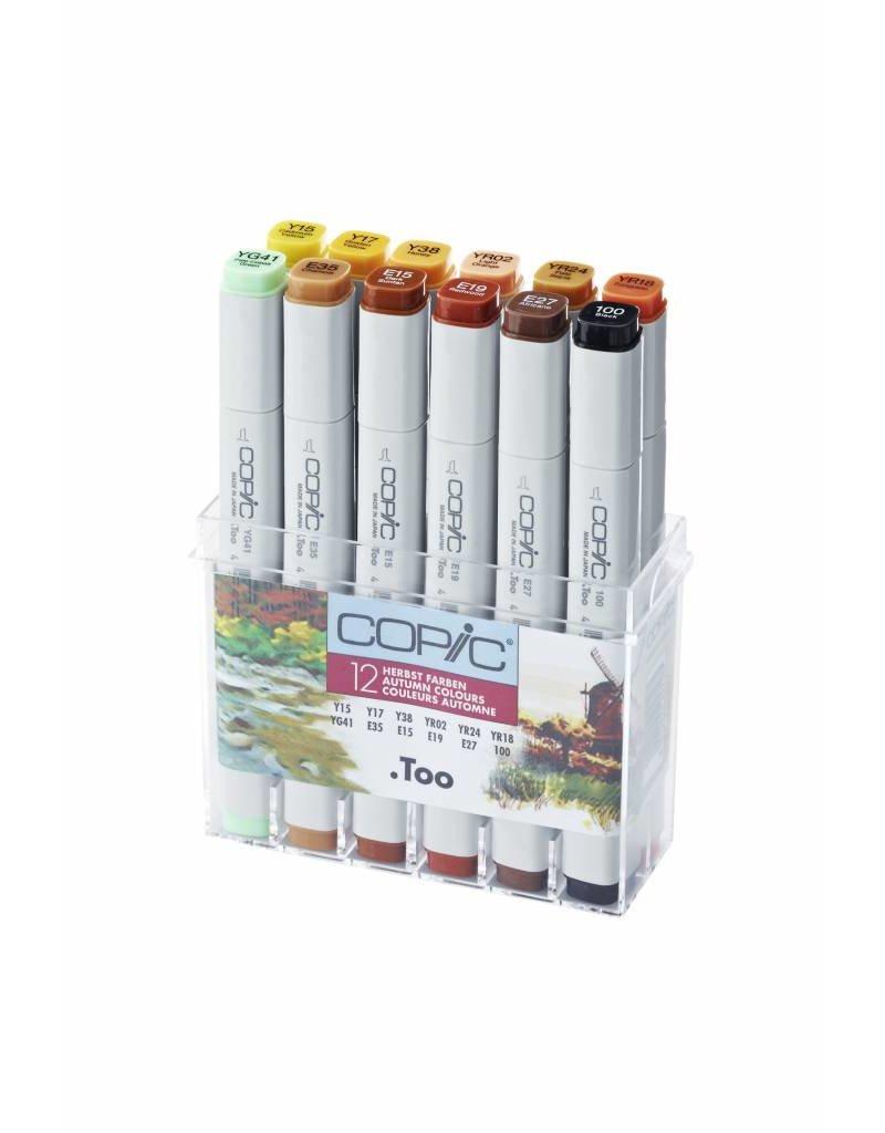 COPIC 12er Marker-Set Herbstfarben
