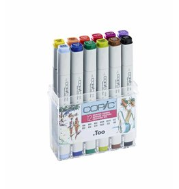 COPIC 12er Marker-Set Sommerfarben