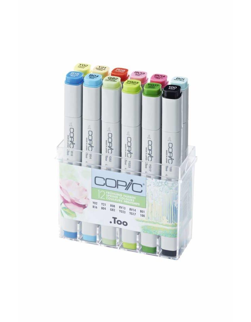 COPIC 12er Marker-Set Frühlingsfarben