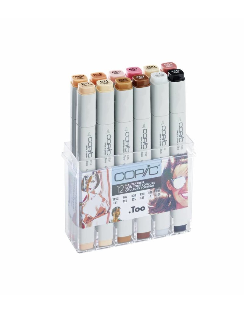 COPIC 12er Marker-Set Hautfarben