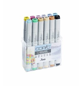 COPIC 12er Marker-Set Pastellfarben