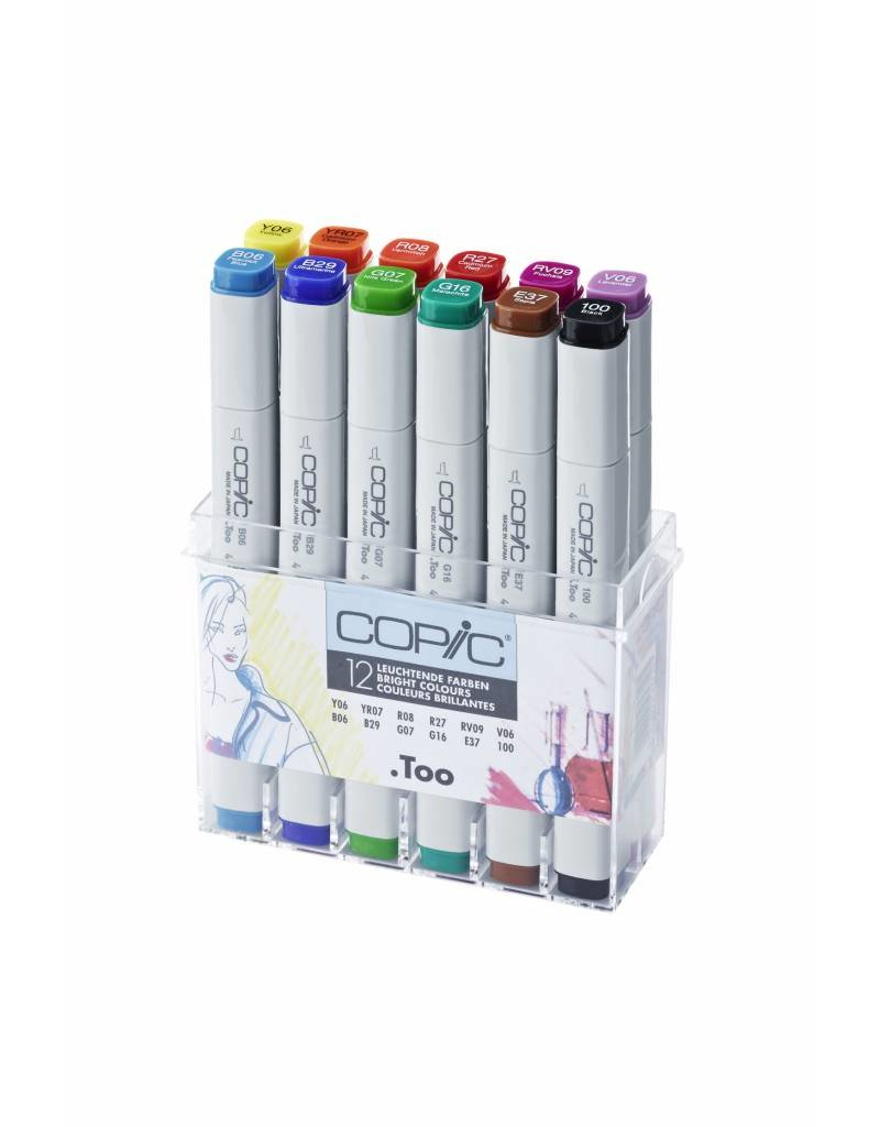 COPIC 12er Marker-Set Leuchtende Farben