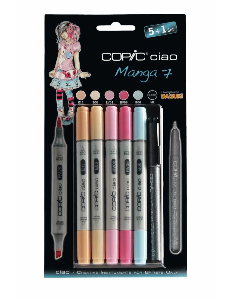 COPIC ciao Marker-Set 5+1, Manga 7