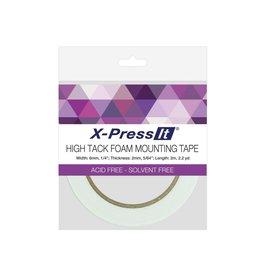 transotype Doppelseitiges Montage-Schaumklebeband by X-Press It, Größe 6 mm x 2 m