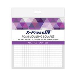 transotype Doppelseitige Montage-Schaumklebequadrate by X-Press It, Größe 12 x 12 mm, 144 Stk.