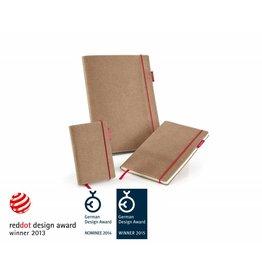 senseBook RED RUBBER, mit rotem Gummiband, Größe Medium, Ausführung blanko