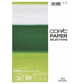 COPIC Paper Selection, Soft Watercolor Paper, A4, 5 Blatt, 100 g/m²