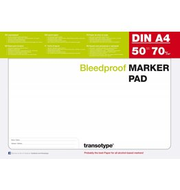 COPIC transotype Markerpad, A4, 50 Blatt, 70 g/m²