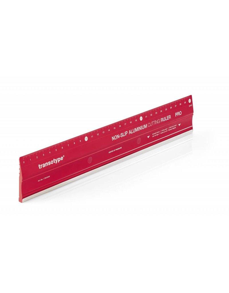 transotype Aluminium-Schneidelineal PRO, Größe 30 x 5 cm