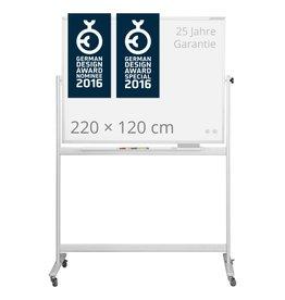 magnetoplan Design-Whiteboard CC, mobil, Größe 220 x 120 cm (BxH)
