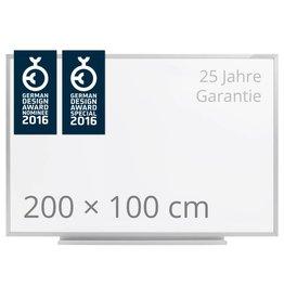 magnetoplan Schreibtafel ferroscript, einseitig, Größe 200 x 100 cm (BxH)