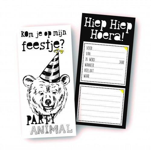 Studio Stylliz Uitnodigingen Party Animal