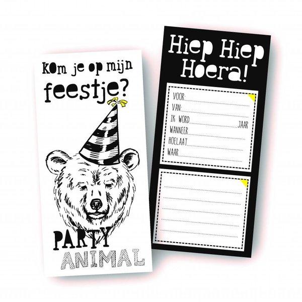 Uitnodigingen Party Animal