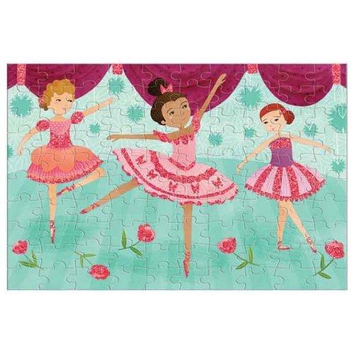 Mudpuppy Glitter Puzzel Ballerina's - 100 stukjes