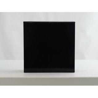 claerpack Magneetdoos 15 x 15 x 5 cm  zwart blinkend
