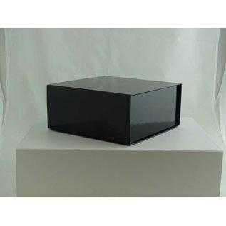 claerpack Magneetdoos 22 x 22 x 10 cm  zwart blinkend