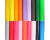 Geschenkpapier uit effen kleuren