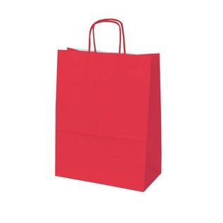 claerpack bth BTH  WIT  draagtas met gedraaide  handvaten kleur red