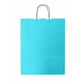 claerpack bth BTH blanc sacs avec des poignées torsadées couleur Turquoise