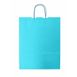 claerpack bth BTH  WIT  draagtas met gedraaide  handvaten kleur Turquoise