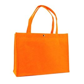 claerpack Sac boutique en feutre  orange