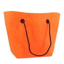 claerpack Sac boutique en feutre  trapezium orange