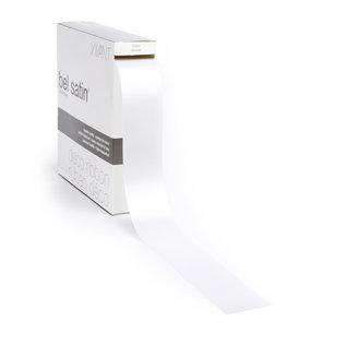 belsatin naamdruk Bel Satin  avec votre logo ou votre nom couleur 00 blanc