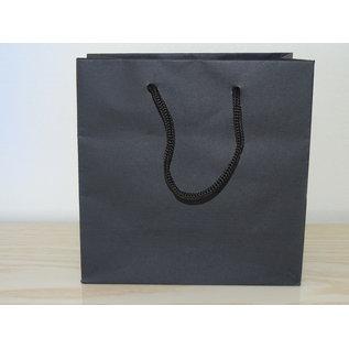 torino claerpack Torino 16 x 8 x 16 cm sac en kraft avec des cordelières noirs