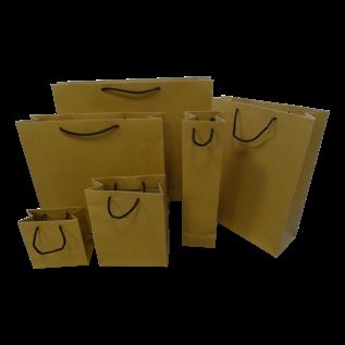 torino claerpack TORINO 32 X 13 X 26 cm sac en kraft avec des cordelières noir