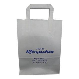 claerpack PHV Sacs cabas  blanc à poignées plates 18 x 8 x 22 cm 500 sacs