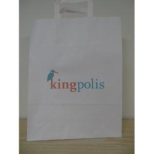 claerpack PHV Sacs cabas  blanc à poignées plates 32 x 12 x 41 cm 250 sacs