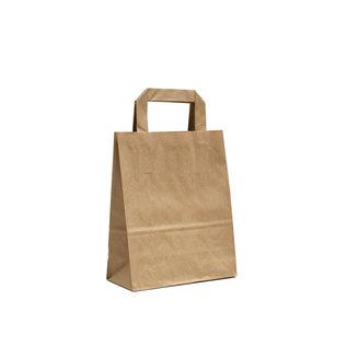 claerpack PHV Sacs cabas  brun à poignées plates 22 x 10 x 28 cm 250  sacs