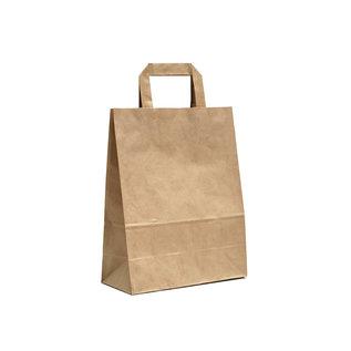 claerpack PHV Sacs cabas  bbrun à poignées plates 26 x 12 x 35 cm 250 sacs